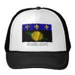 Guadeloupe waving flag with name trucker hat