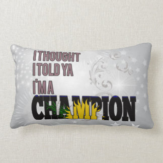 Guadeloupean and a Champion Throw Pillows