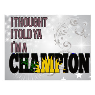 Guadeloupean and a Champion Postcards