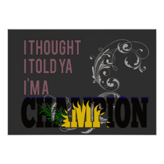 Guadeloupean and a Champion Poster