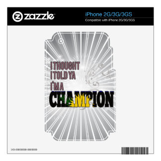 Guadeloupean and a Champion Decal For iPhone 2G
