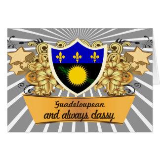 Guadeloupean con clase tarjeta de felicitación