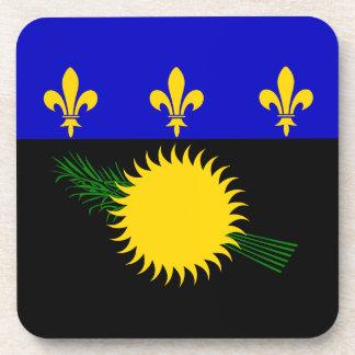 Guadeloupean Flag Beverage Coaster