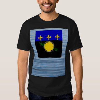 Guadeloupean Flag Floating on water Tee Shirt