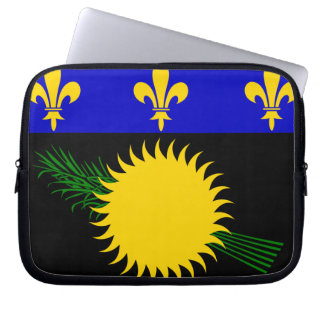 Guadeloupean Flag Laptop Sleeve