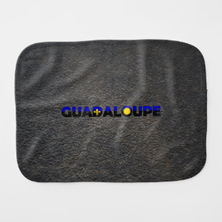 Guadeloupean name and flag burp cloth