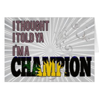 Guadeloupean y un campeón felicitaciones