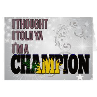 Guadeloupean y un campeón tarjeta de felicitación