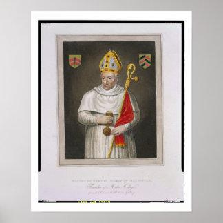 Gualterio de Merton (d.1277), después de una pintu Póster