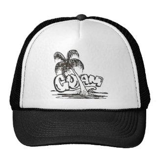guam b&w trucker hat