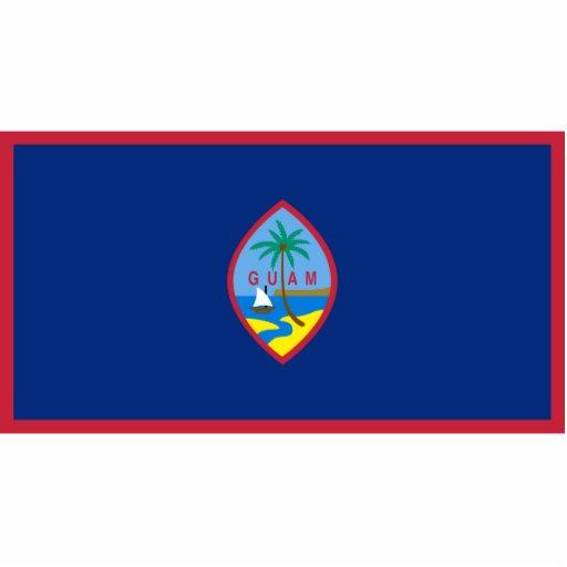 Guam - bandera nacional de Guam Fotoescultura Vertical