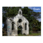 Guam Baptist Church Ruins Postcard