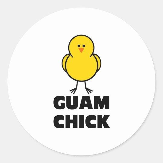 Guam Chick Classic Round Sticker