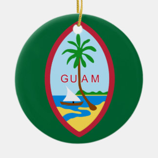 Guam Coat of Arms Ceramic Ornament