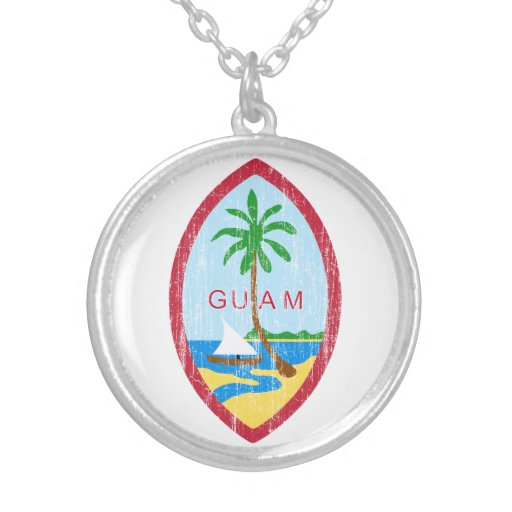 Guam Coat Of Arms Personalized Necklace