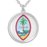 Guam Coat Of Arms Round Pendant Necklace