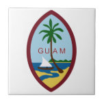 Guam Coat of Arms Small Square Tile