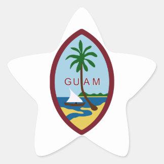 Guam Coat of Arms Star Sticker