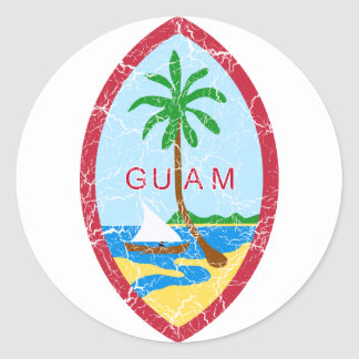 Guam Coat Of Arms Round Sticker