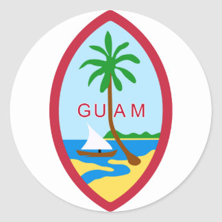 Guam Coat Of Arms Round Stickers