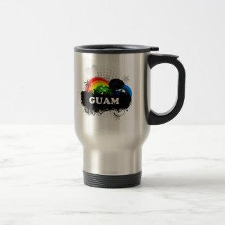 Guam con sabor a fruta linda tazas de café