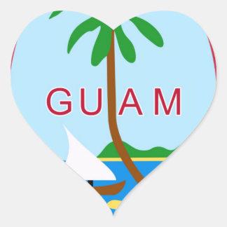 GUAM - emblem/flag/coat of arms/symbol Heart Stickers