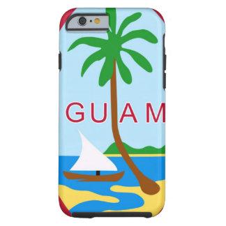 GUAM - emblema/bandera/escudo de armas/símbolo Funda De iPhone 6 Tough