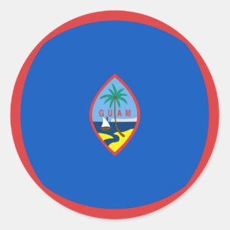 Guam Fisheye Flag Sticker
