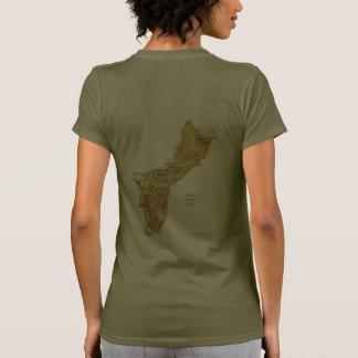 Guam Flag and Map dk T-Shirt Tshirts