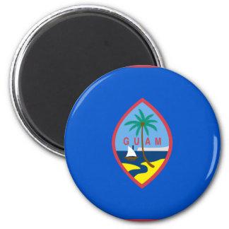 Guam Flag GU 2 Inch Round Magnet