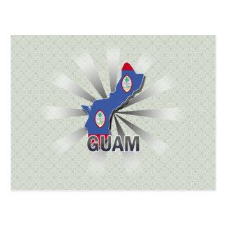 Guam Flag Map 2.0 Postcard