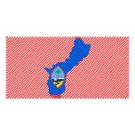 Guam Flag Map Photo Card