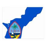Guam Flag Map Post Card