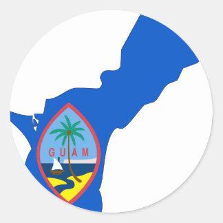 Guam Flag Map Round Sticker