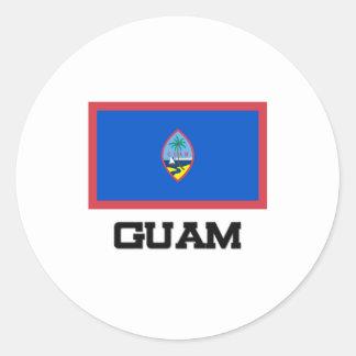 Guam Flag Round Sticker