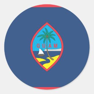GUAM FLAG ROUND STICKERS