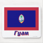 Guam Flag with name in Russian Mouse Pads