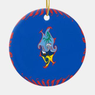 Guam Gnarly Flag Ceramic Ornament