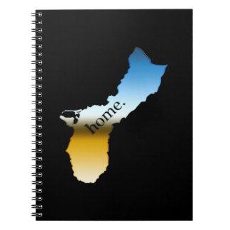 Guam home Horizon Spiral Notebook