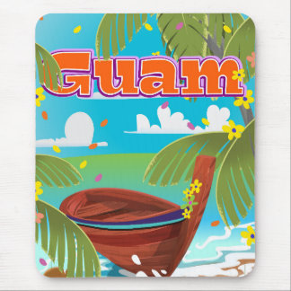 Guam Island holiday travel poster. Mouse Pad