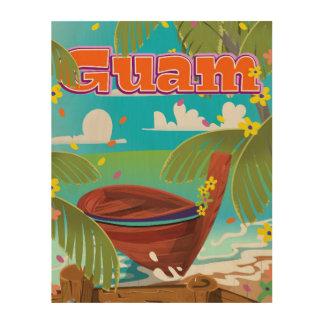 Guam Island holiday travel poster. Wood Wall Art