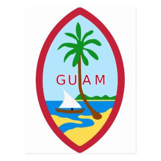 Guam Official Coat Of Arms Heraldry Symbol Postcard