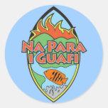 Guam - pegatinas pegatina redonda