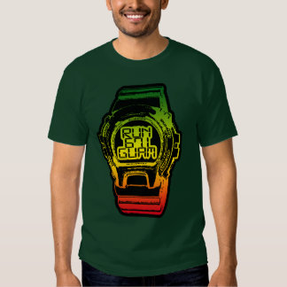 GUAM RUN 671 Chamorro Time Reggea Shock Watch T Shirt