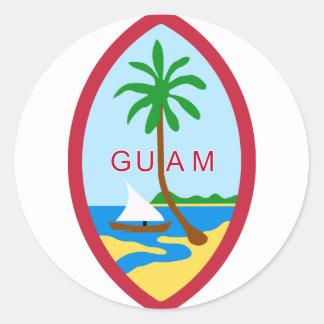 Guam Seal GU Round Stickers