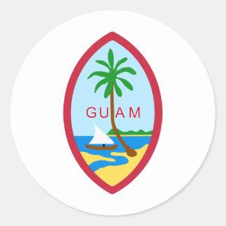 Guam Seal GU Round Sticker