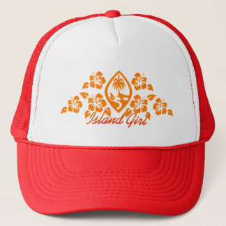 Guam Seal Islander Girl Trucker Hat