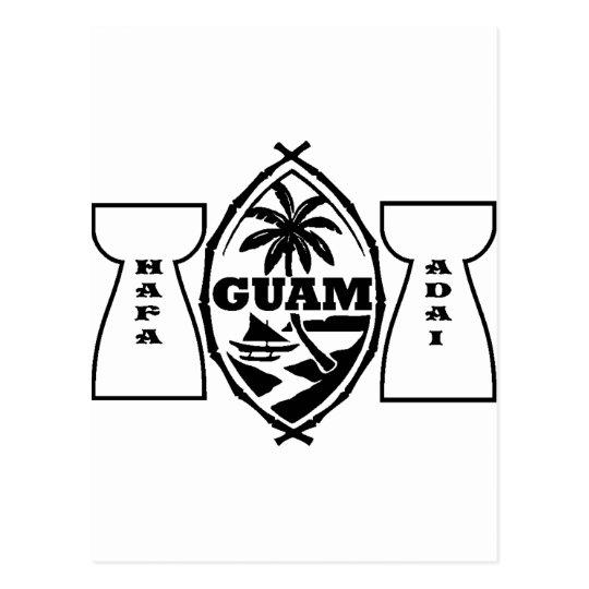 Guam seal with latte stones postcard