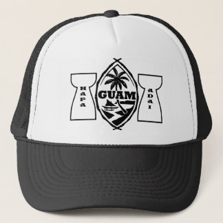 Guam seal with latte stones trucker hat