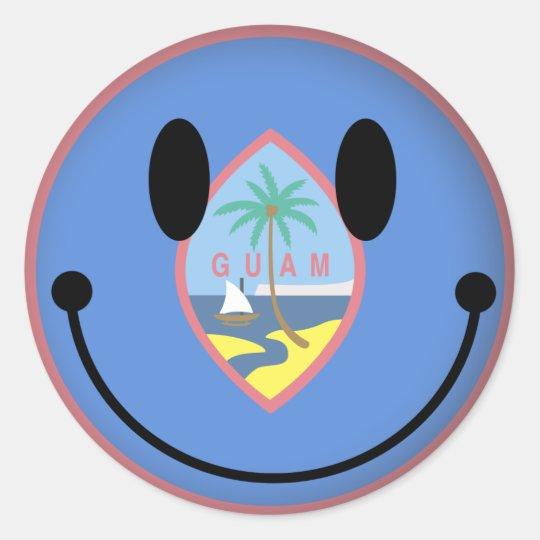 Guam Smiley Classic Round Sticker